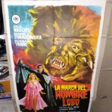 Cine: LA MARCA DEL HOMBRE LOBO PAUL NASCHY POSTER ORIGINAL 70X100 P. Lote 192138953