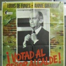 Cine: AAD86 VOTAD AL SEÑOR ALCALDE LOUIS DE FUNES ANNIE GIRARDOT POSTER ORIGINAL 70X100 ESTRENO. Lote 192170095