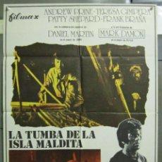 Cine: AAD83 LA TUMBA DE LA ISLA MALDITA VAMPIROS TERROR ESPAÑOL POSTER ORIGINAL 70X100 ESTRENO. Lote 192171027