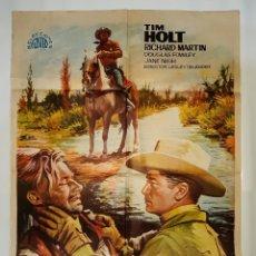 Cine: CARTEL CINE PATRULLA EN RIO GRANDE TIM HOLT 1968 ESC. C 554. Lote 192171385