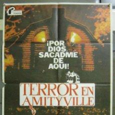 Cine: AAD80 TERROR EN AMITYVILLE JAMES BROLIN MARGOT KIDDER TERROR POSTER ORIGINAL 70X100 ESTRENO. Lote 192172227