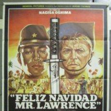 Cine: AAD77 FELIZ NAVIDAD MR LAWRENCE DAVID BOWIE OSHIMA POSTER ORIGINAL 70X100 ESTRENO. Lote 192173608