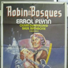 Cine: AAD74 ROBIN DE LOS BOSQUES ERROL FLYNN POSTER ORIGINAL 70X100 EPAÑOL. Lote 192174866