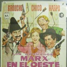 Cine: AAD73 LOS HERMANOS MARX EN EL OESTE ALVARO POSTER ORIGINAL 70X100 ESPAÑOL R-72. Lote 192175268