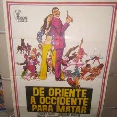 Cine: DE ORIENTE A OCCIDENTE PARA MATAR POSTER ORIGINAL 70X100 P. Lote 192190478