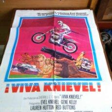 Cine: POSTER -- VIVA KNIEVEL -- ORIGINAL CINE -- 100 X 70 -- 1978 -- EVEL KNIEVEL --. Lote 192235073