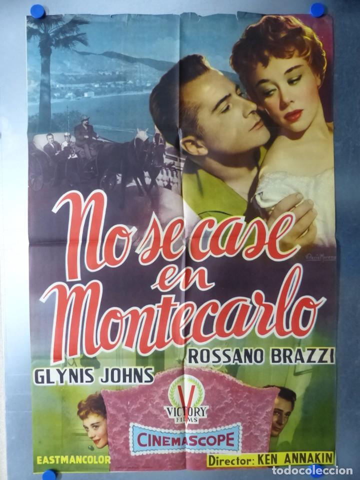 NO SE CASE EN MONTECARLO, ROSSANO BRAZZI, GLYNIS JOHNS (Cine - Posters y Carteles - Comedia)
