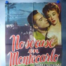 Cine: NO SE CASE EN MONTECARLO, ROSSANO BRAZZI, GLYNIS JOHNS. Lote 192463138