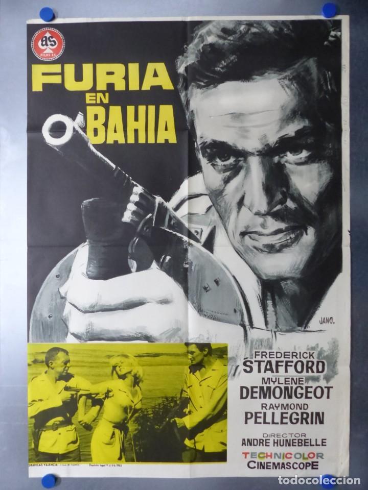 FURIA EN BAHIA, FREDERICK STAFFORD, MYLENE DEMONGEOT, AÑO 1965 (Cine - Posters y Carteles - Acción)