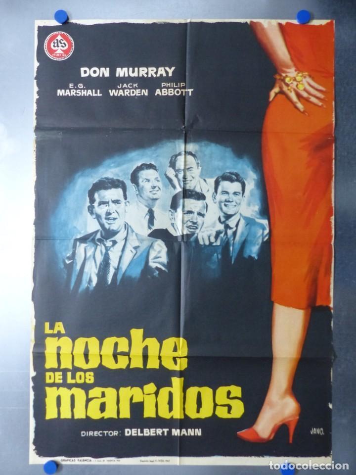 LA NOCHE DE LOS MARIDOS, DON MURRAY, E.G.MARSHALL, JACK WARDEN, AÑO 1961 (Cine - Posters y Carteles - Comedia)