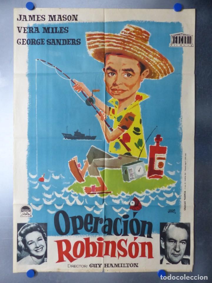 OPERACION ROBINSON, JAMES MASON, VERA MILES, AÑO 1961 (Cine - Posters y Carteles - Comedia)