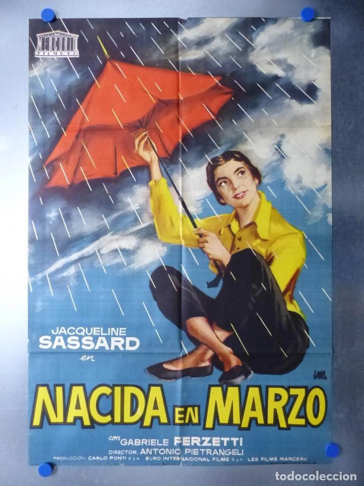 NACIDA EN MARZO, JACQUELINE SASSARD, AÑO 1958 (Cine - Posters y Carteles - Comedia)