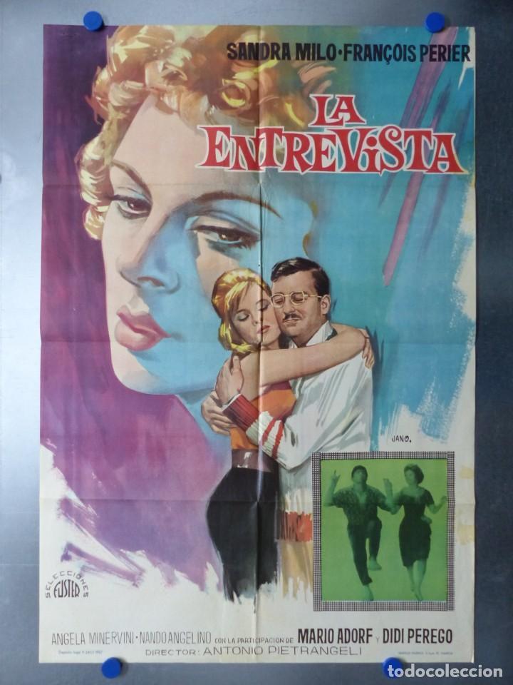 LA ENTREVISTA, SANDRA MILO, FRANÇOIS PERIER, AÑO 1967 (Cine - Posters y Carteles - Comedia)