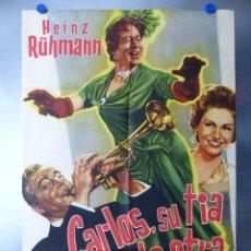 Cine: CARLOS SU TIA Y LA OTRA, HEINZ RUHMANN. Lote 192473515