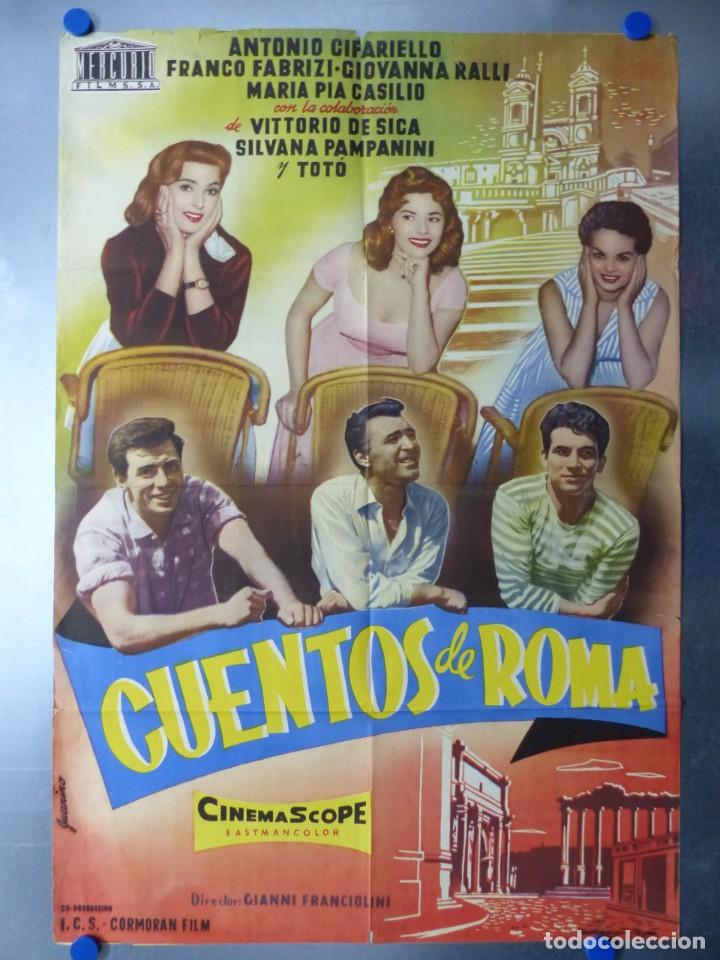 CUENTOS DE ROMA, TOTO, VITTORIO DE SICA, SILVANA PAMPANINI, FRANCO FABRIZI, JUANINO (Cine - Posters y Carteles - Comedia)