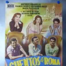 Cine: CUENTOS DE ROMA, TOTO, VITTORIO DE SICA, SILVANA PAMPANINI, FRANCO FABRIZI, JUANINO. Lote 192474423
