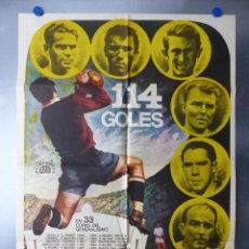 Cine: 114 GOLES NO-DO, ALFREDO DI STEFANO, PUCHADES, AMANCIO, PIRRI, PUSKAS, AÑO 1972. Lote 192475617