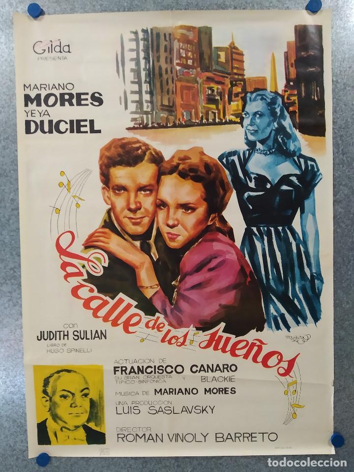 LA CALLE DE LOS SUEÑOS. MARIANO MORES, YEYA DUCIEL . AÑO 1965. POSTER ORIGINAL (Cine- Posters y Carteles - Drama)