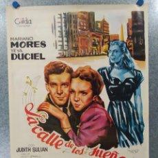 Cine: LA CALLE DE LOS SUEÑOS. MARIANO MORES, YEYA DUCIEL . AÑO 1965. POSTER ORIGINAL. Lote 192579922