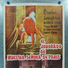 Cine: EL JOROBADO DE NUESTRA SEÑORA DE PARIS. CHARLES LAUGHTON, MAUREEN O'HARA. AÑO 1968. POSTER ORIGINAL. Lote 192583761