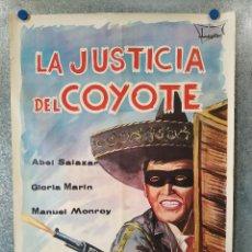 Cine: LA JUSTICIA DEL COYOTE. ABEL SALAZAR. AÑO 1968. POSTER ORIGINAL. Lote 192585947
