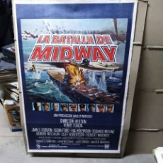 Cine: LA BATALLA DE MIDWAY CHARLTON HESTON MIFUNE MITCHUM FONDA POSTER ORIGINAL 70X100 P. Lote 192593131