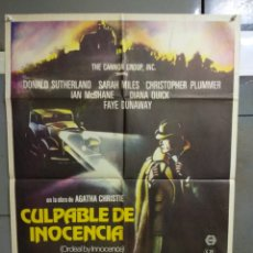 Cine: CDO 017 CULPABLE DE INOCENCIA AGATHA CHRISTIE DONALD SUTHERLAND POSTER ORIGINAL ESTRENO 70X100. Lote 192814513