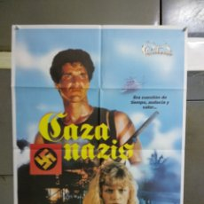 Cine: CDO 019 CAZA NAZIS MAUD ADAMS STEWART GRANGER POSTER ORIGINAL 70X100 ESTRENO. Lote 192814800