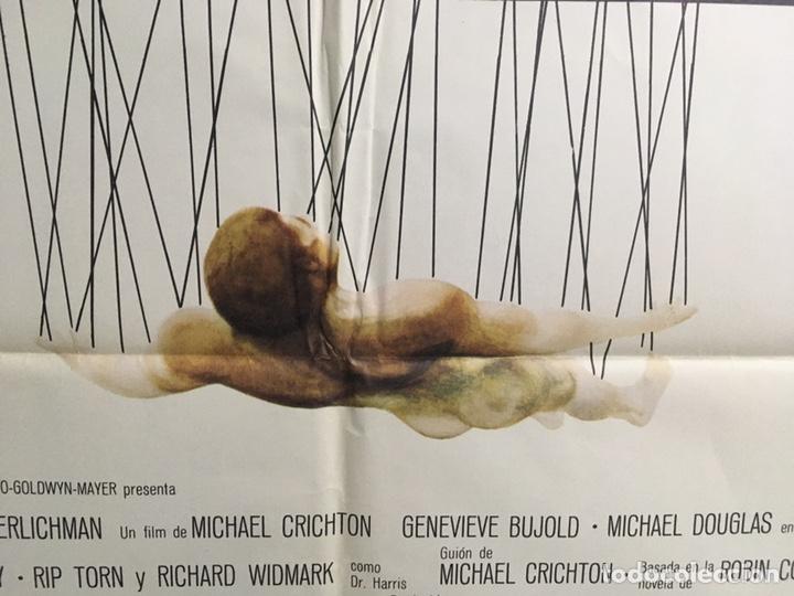 Cine: CDO 039 COMA MICHAEL DOUGLAS GENEVIEVE BUJOLD MICHAEL CRICHTON SCI-FI POSTER ORIGINAL 70X100 ESTRENO - Foto 4 - 192902643
