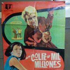 Cine: CDO 050 UN GOLPE DE MIL MILLONES MARILU TOLO EDUARDO FAJARDO MARCO POSTER ORIGINAL 70X100 ESTRENO. Lote 192909762