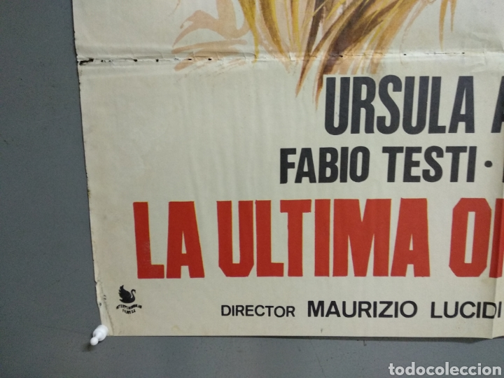 Cine: CDO 056 LA ULTIMA OPORTUNIDAD URSULA ANDRESS FABIO TESTI JANO POSTER ORIGINAL 70X100 ESTRENO - Foto 5 - 192912495