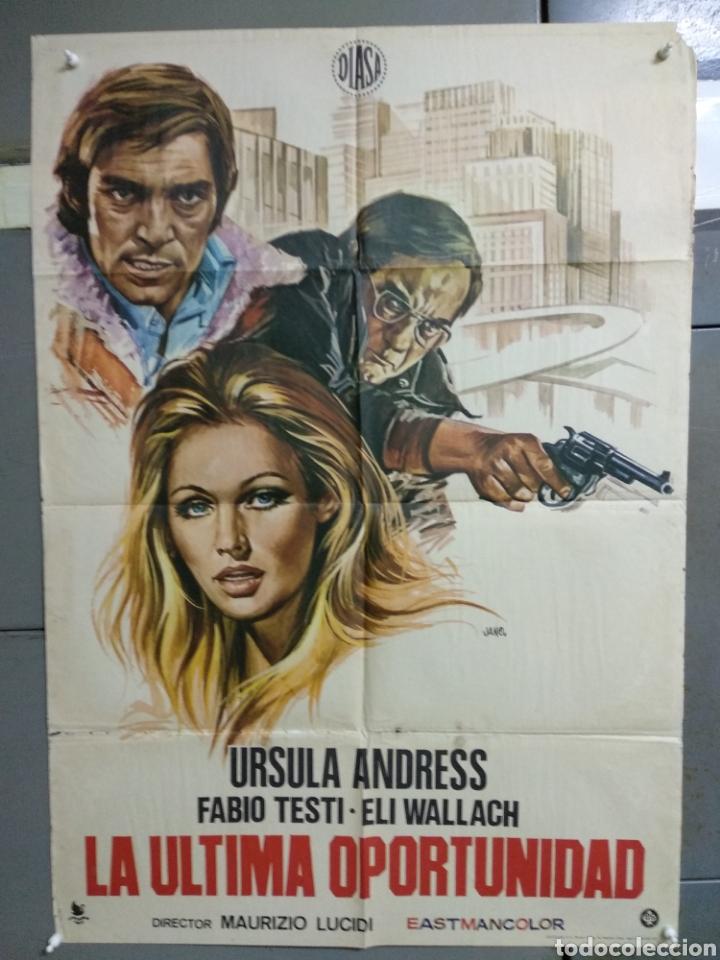 CDO 056 LA ULTIMA OPORTUNIDAD URSULA ANDRESS FABIO TESTI JANO POSTER ORIGINAL 70X100 ESTRENO (Cine - Posters y Carteles - Suspense)