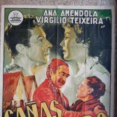 Cine: CARTEL CINE CAÑAS Y BARRO DE JUAN ORTUÑA LITOGRAFIA PERIS ARAGO ORIGINAL, CC1. Lote 192918360