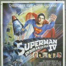 Cinéma: CDO 066 SUPERMAN 4 EN BUSCA DE LA PAZ CRISTOPHER REEVE GENE HACKMAN POSTER ORIGINAL 70X100 ESTRENO. Lote 192920558
