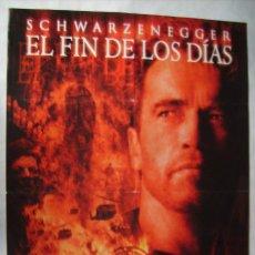 Cine: EL FIN DE LOS DÍAS, CON ARNOLD SCHWARZENEGGER. POSTER 68,5 X 99 CMS. . Lote 192926962