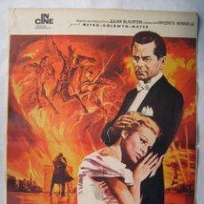 Cine: LOS CUATRO JINETES DEL APOCALIPSIS, CON GLENN FORD. POSTER 69,5 X 99 CMS. REPOSICIÓN DE 1973.. Lote 192928143