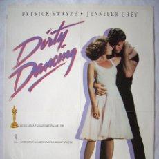 Cine: DIRTY DANCING, CON PATRICK SWAYZE. POSTER DE VIDEO 68 X 98 CMS... Lote 192929768