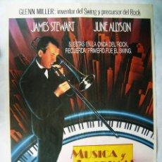 Cine: MÚSICA Y LÁGRIMAS, CON JAMES STEWART. POSTER 70 X 100 CMS.1985.. Lote 192932182