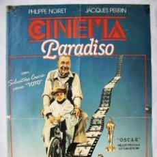 Cine: CINEMA PARADISO, CON PHILIPPE NOIRET. MINI-POSTER 43 X 63 CMS.. Lote 192932727