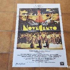 Cinema: POSTER CARTEL NOVECENTO 1900 (100 X 70 CMS. APROX.) CON ROBERT DE NIRO Y GERARD DEPARDIEU. Lote 192932911