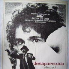 Cine: DESAPARECIDO, CON JACK LEMMON. POSTER 70 X 100 CMS. 1982.. Lote 192934568