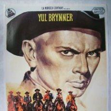Cinema: I MARNIFICI SETTE (LOS SIETE MAGNÍFICOS), CON YUL BRYNNER. POSTER 70 X 100 CMS. 1982.. Lote 192936176