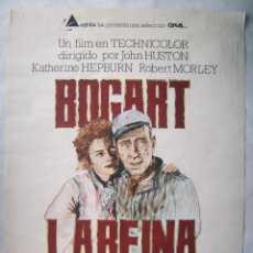 Cine: LA REINA DE ÁFRICA, CON HUMPHREY BOGARD. POSTER CREACIÓN 70 X 100 CMS. 1980.. Lote 192936525