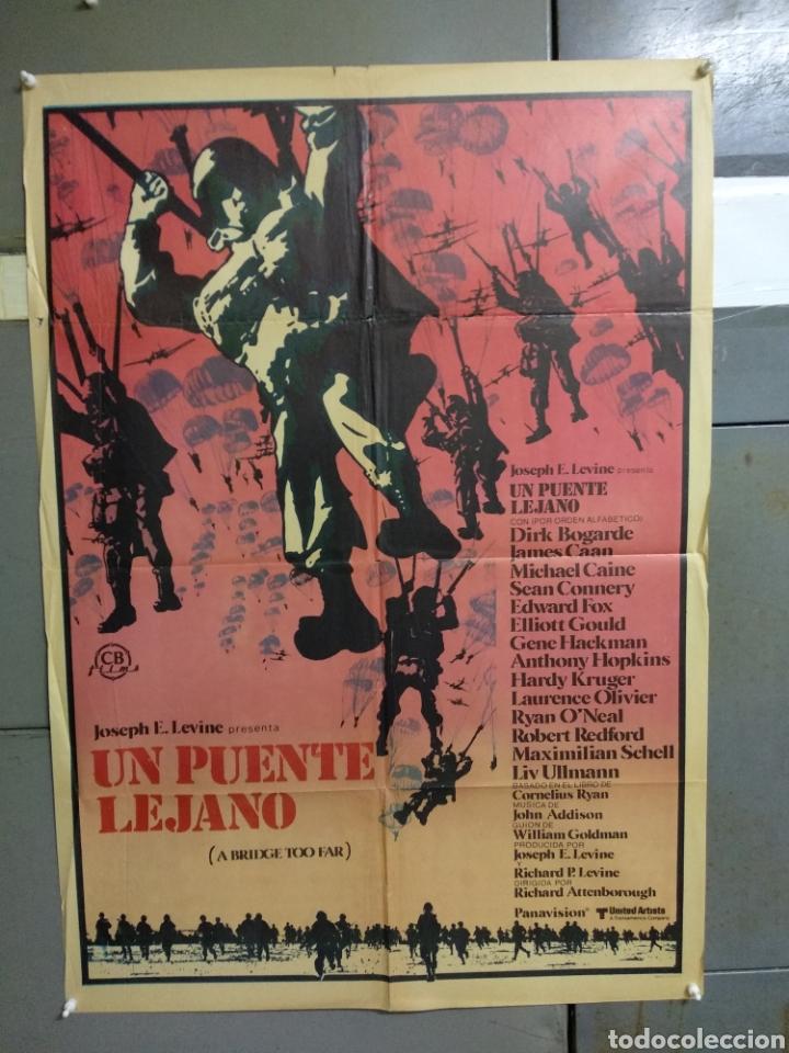 CDO 071 UN PUENTE LEJANO ROBERT REDFORD MICHAEL CAINE SEAN CONNERY POSTER ORIGINAL 70X100 ESTRENO (Cine - Posters y Carteles - Bélicas)