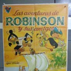 Cine: CDO 098 LAS AVENTURAS DE ROBINSON Y SUS AMIGOS ANIMACION POSTER ORIGINAL ESTRENO 70X100. Lote 193011400