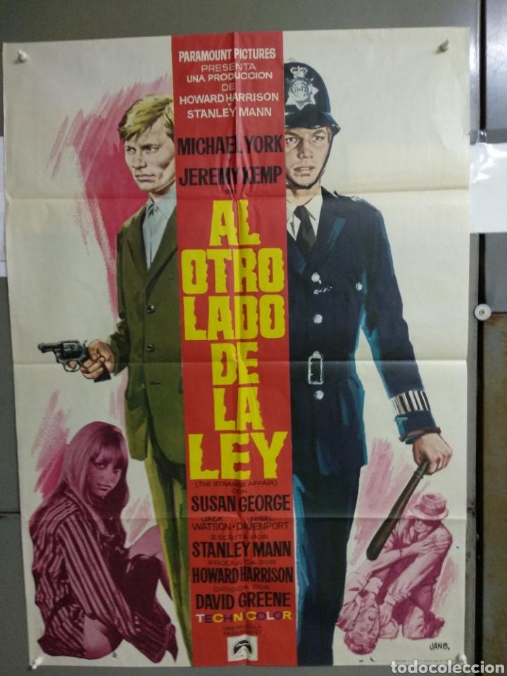 CDO 099 AL OTRO LADO DE LA LEY MICHAEL YORK SUSAN GEORGE JANO POSTER ORIGINAL 70X100 ESTRENO (Cine - Posters y Carteles - Suspense)