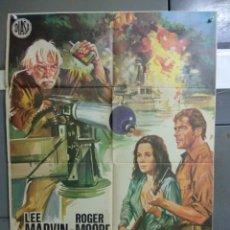 Cine: CDO 106 GRITAR AL DIABLO ROGER MOORE LEE MARVIN POSTER ORIGINAL 70X100 ESTRENO. Lote 193013585