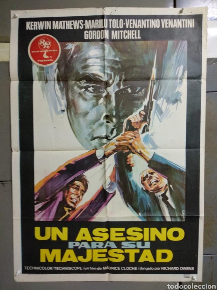 CDO 124 UN ASESINO PARA SU MAJESTAD KERWIN MATHEWS POSTER ORIGINAL ESTRENO 70X100 (Cine - Posters y Carteles - Suspense)