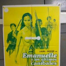 Cine: CDO 126 EMANUELLE Y LOS ULTIMOS CANIBALES JOE D'AMATO LAURA GEMSER JANO POSTER ORIG ESTRENO 70X100. Lote 193111747
