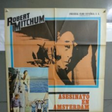 Cine: CDO 131 AESINATO EN AMSTERDAM ROBERT MITCHUM POSTER ORIGINAL 70X100 ESTRENO. Lote 193114598